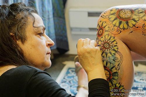 Kree, Body Painting