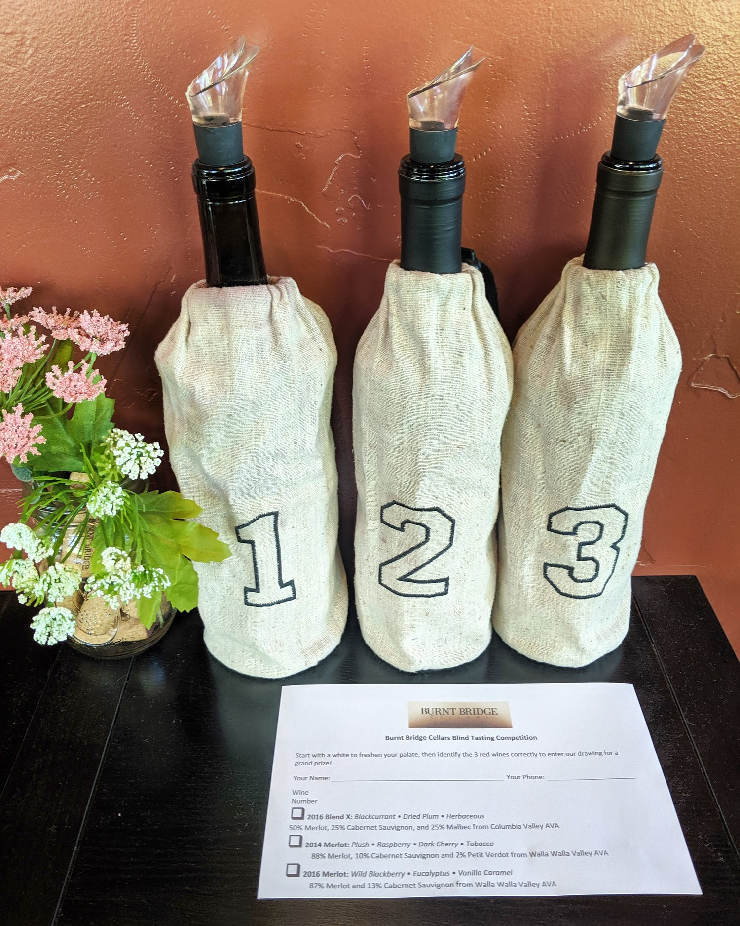 A Carafe That Is A Blind Glass blind tasting competition! — burnt bridge cellars