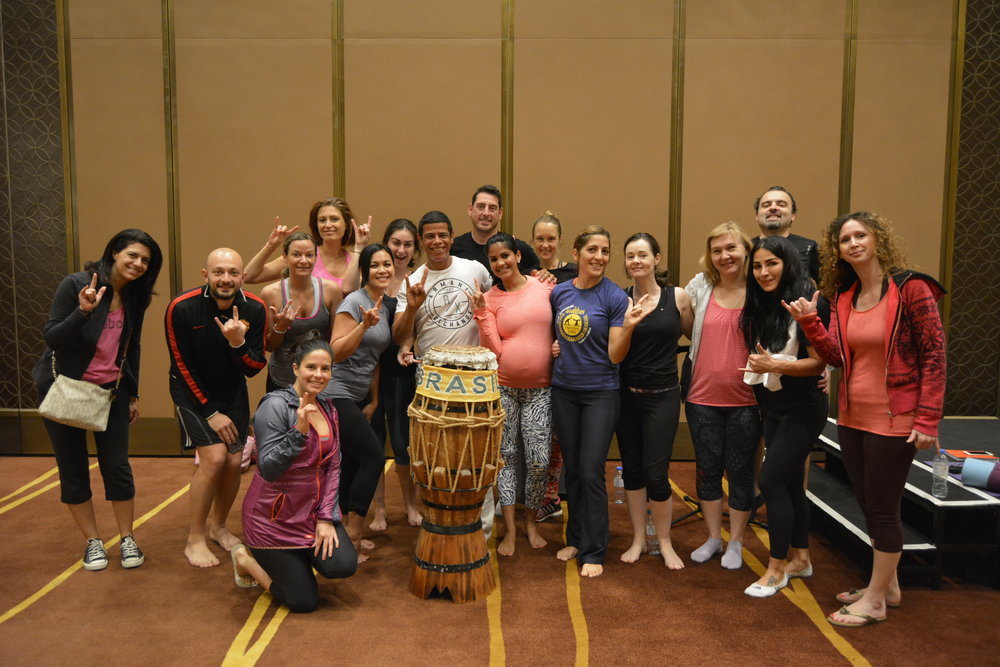Post last drumming & yoga event with the group