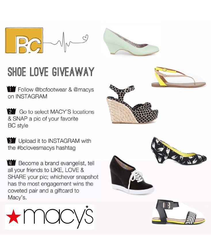 BC Shoe Giveaway with MACY'S