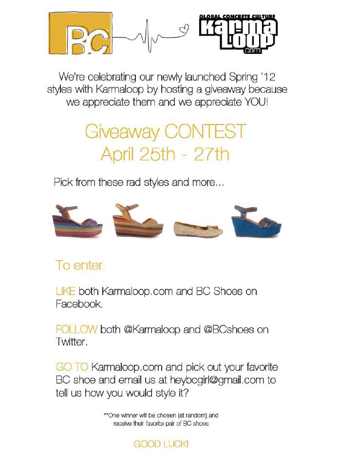 GIVEAWAY Campaign - BC Footwear + Karma Loop