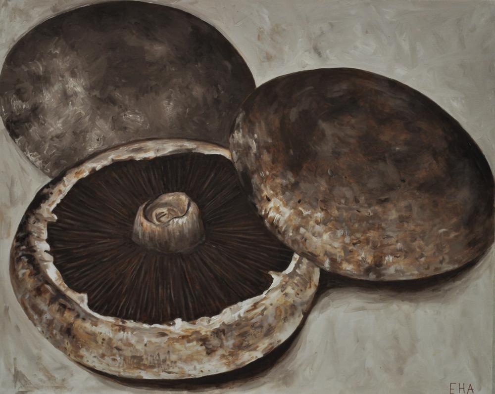 mushrooms - oil