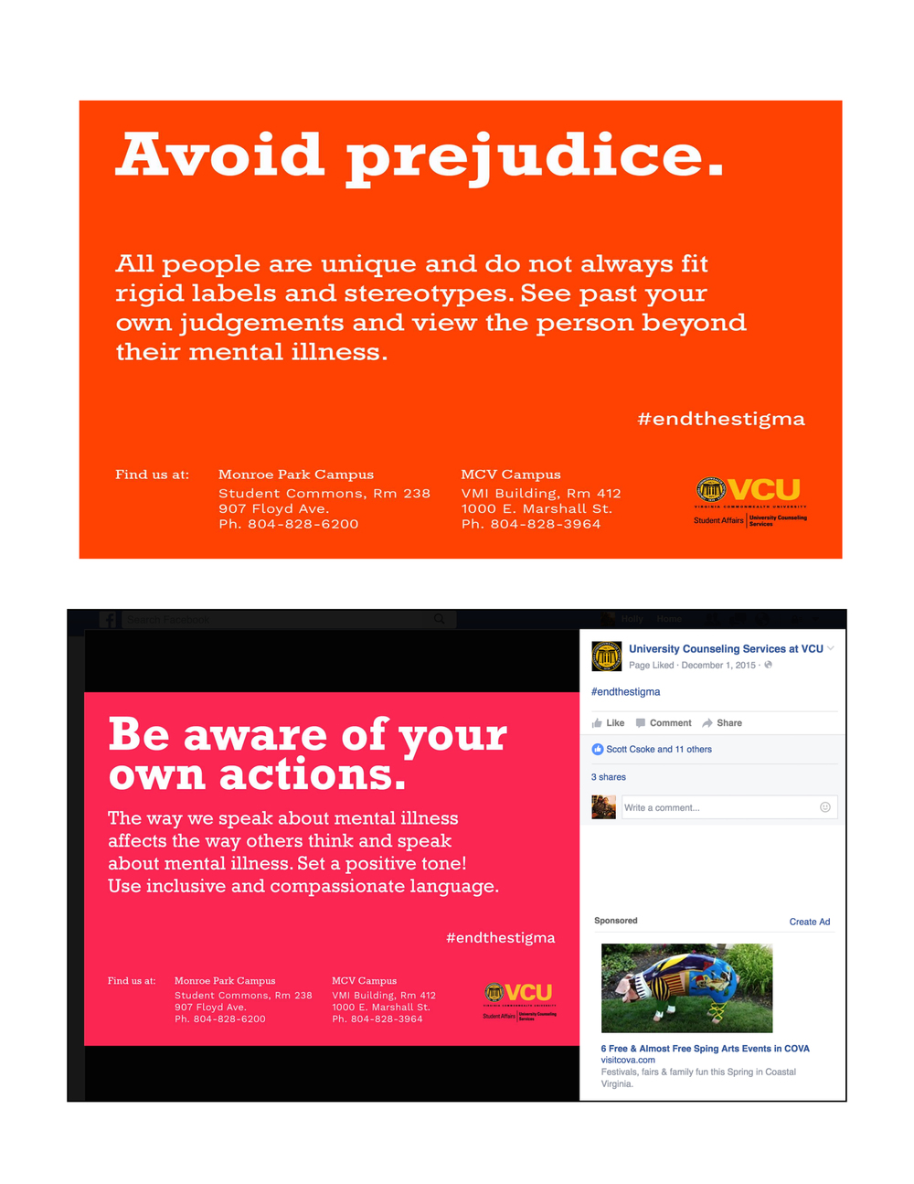 VCU university services twitter campaign