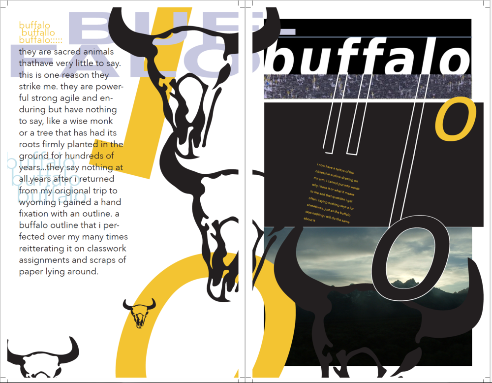 spread from Wyoming publication