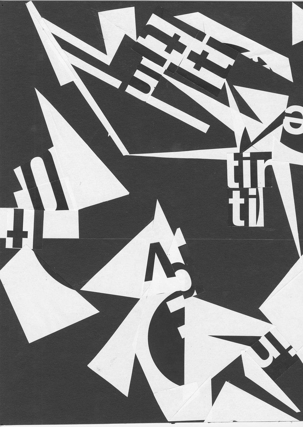 Typographic collage