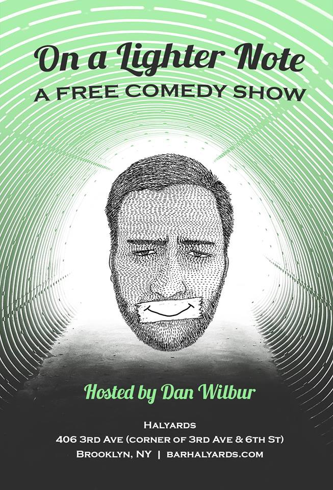 "Face it. The world is garbage right now. But there's always a silver lining! Lighten your mood at ""On a Lighter Note"" where Dan Wilbur hosts the finest comics in NYC - bringing you raw & uncensored stand-up. The only caveat? Every comedian MUST leave the stage by saying something positive. It's a free comedy show with guaranteed laughs. If that doesn't cheer you up, there will be random chances to win a free drink throughout the show!  Thursday, October 12th's lineup includes: Jena Friedman (Daily Show, Late Show) Nore Davis (Comedy Central, MTV) Josh Gondelman (Last Week Tonight) Giulia Rozzi (TEDx, Moth GrandSLAM) Shane Torres (Conan, Comedy Bang! Bang!) More info: http://lighternotecomedy.tumblr.com/"
