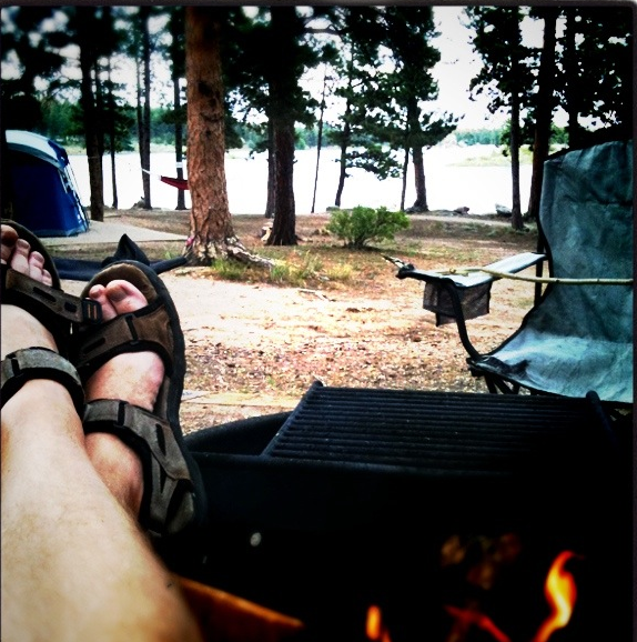 Kickin' it at Dowdy Lake, Red Feather Lakes.