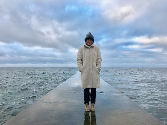 Last but not least...Taking a chilly walk along the Baltic Sea (no big deal)