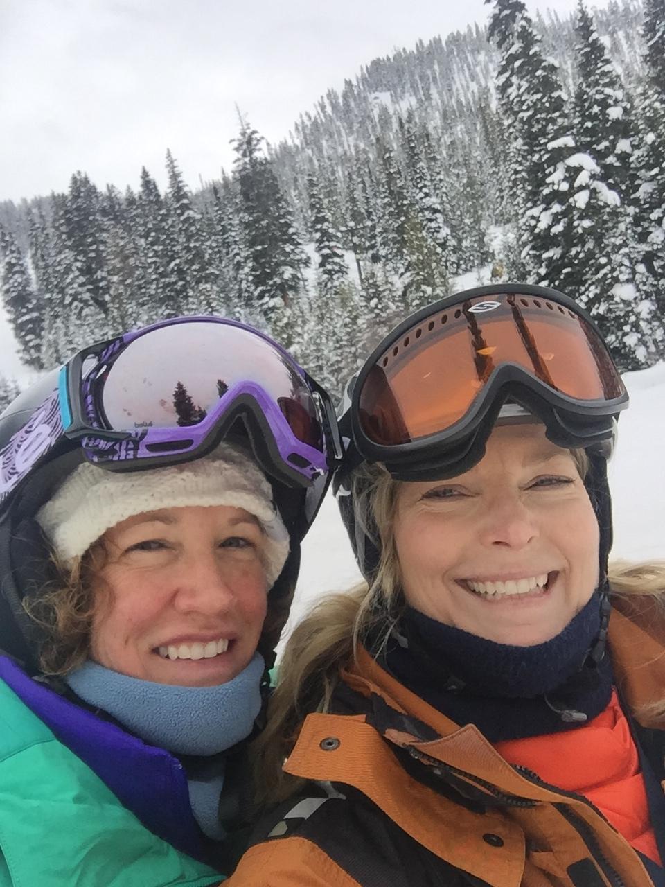 Skiing fresh powder