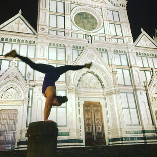 Acrobatics in Italy.
