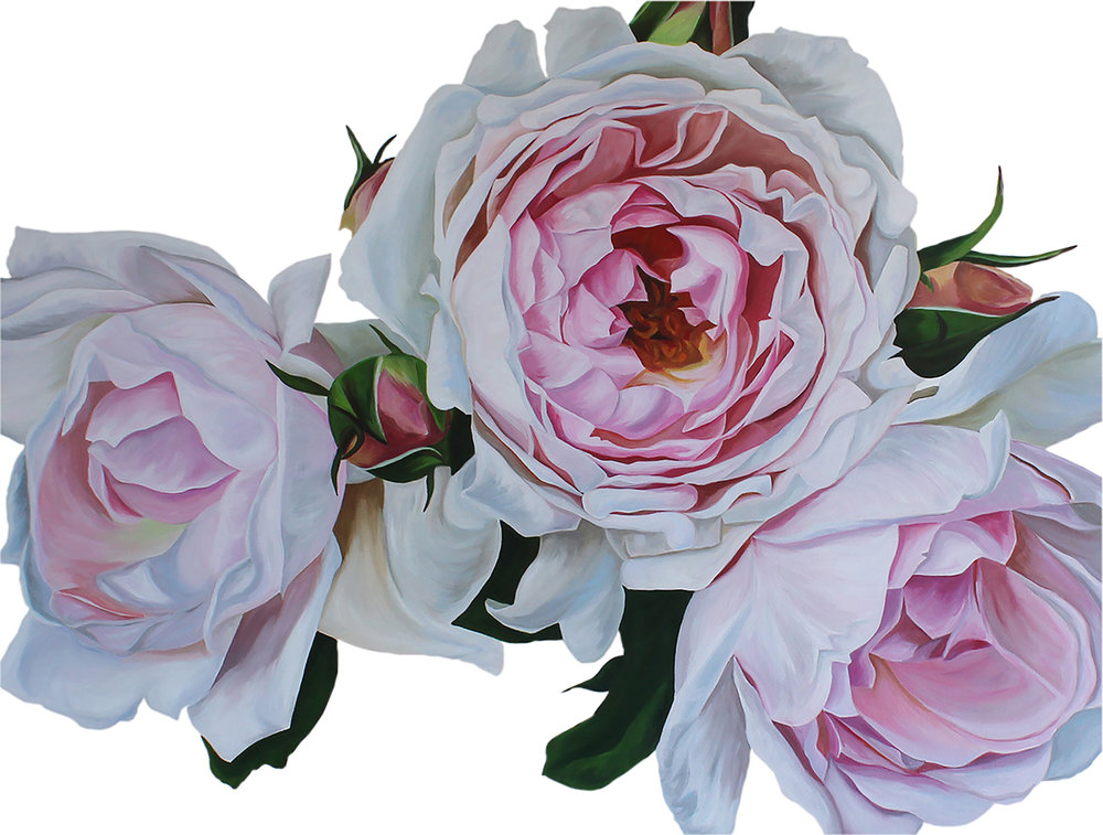 ROSA  48X36 INCHES  ACRYLIC ON CANVAS  SOLD