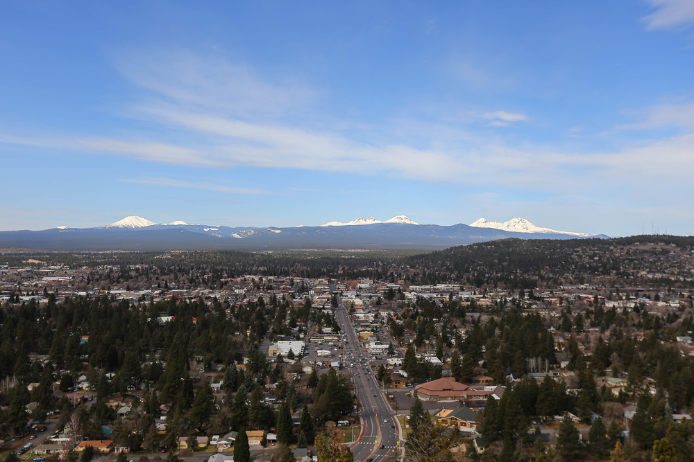 View from Pilot Butte in Bend Oregon