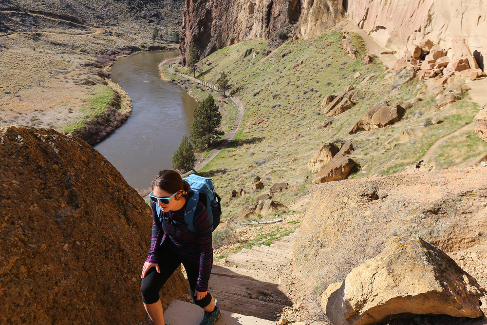 Girl walking in Smith Rock