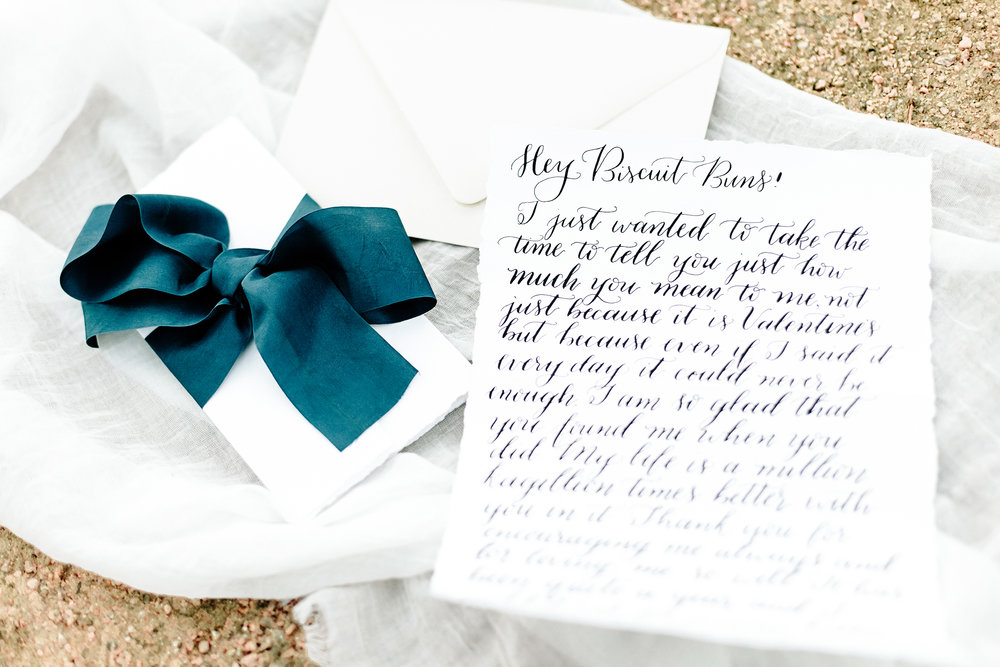 Calligraphy Love Letter | Joyful Ink Calligraphy | Cassie Schott Photography
