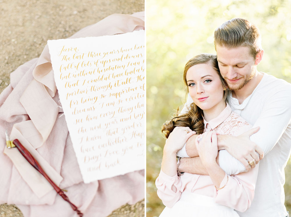 Houston Calligraphy Love Letter Couples Session | Joyful Ink Calligraphy | Cassie Schott Photography