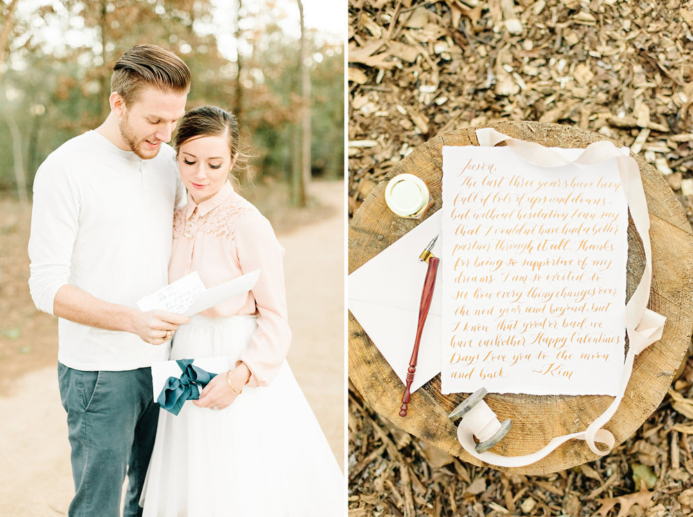 Houston Calligraphy Love Letter Session | Cassie Schott Photography | Joyful Ink Calligraphy