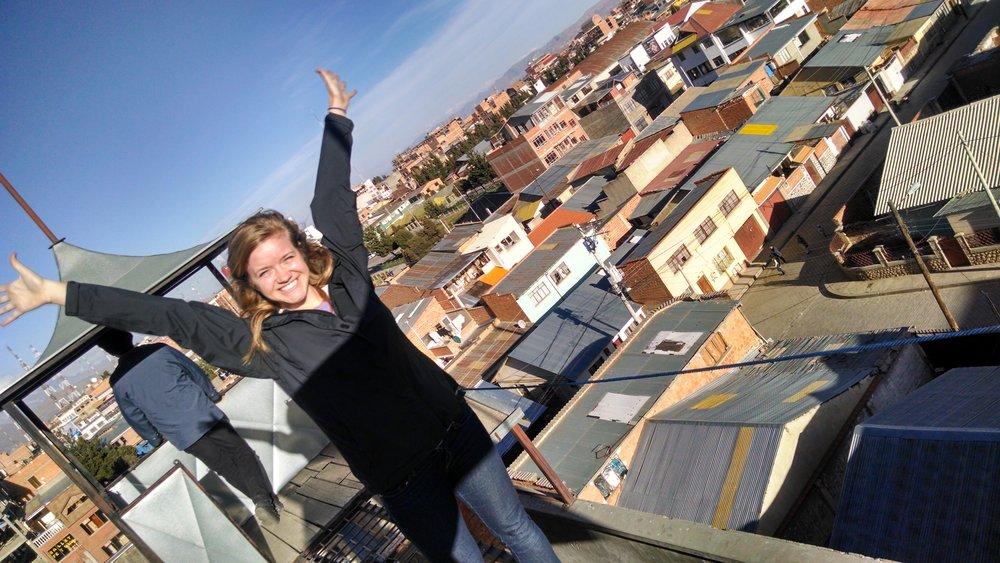 On top of Teatro Trono's roof. El Alto, Bolivia