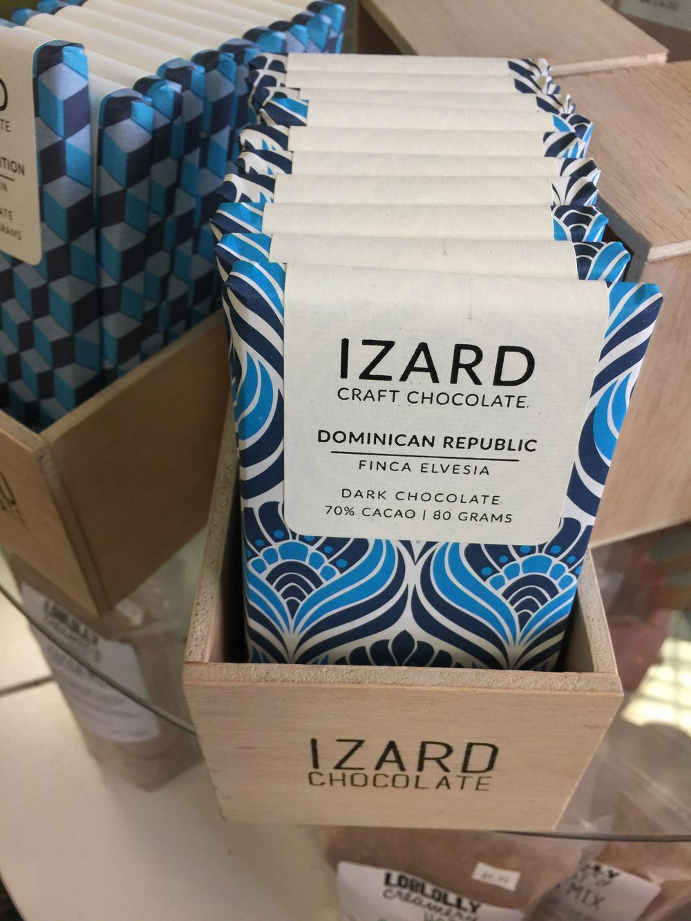 Izard Chocolate flies off the shelf at Sweet Candy + Gifts in the Heights. Stop in for a bar today!