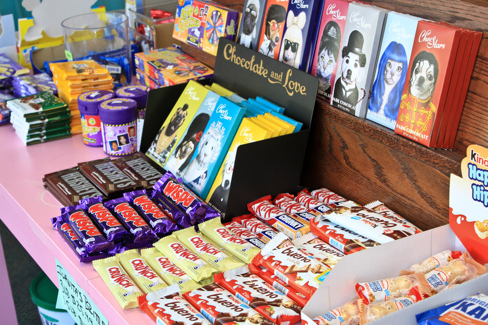 Wide range of international candies at Sweet Candy + Gifts in the Heights, Little Rock, Arkansas