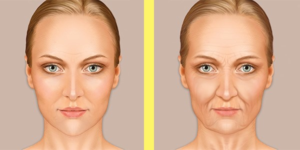 What the lines on your face looks like at 35 (left) and 45 (right)