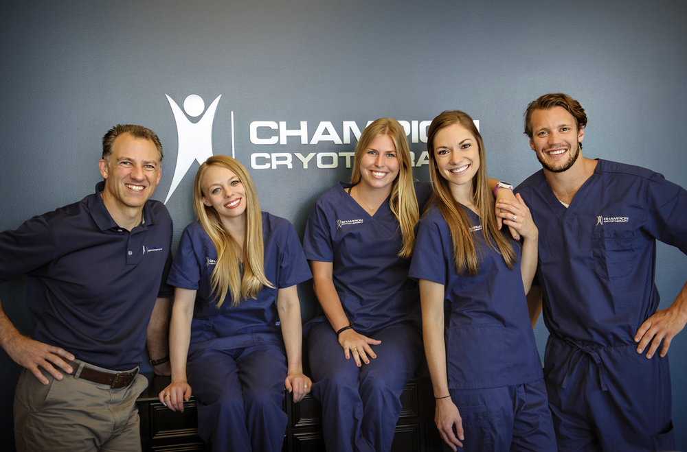 Image of Champion Cryotherapy -  Austin's leading cryo spa. Restore tired muscles  and recover from back and joint pain using the proven healing therapy of cold temperatures. Offering whole body cryotherapy, cold laser therapy, sport massage therapy, Normatec compression, and more.