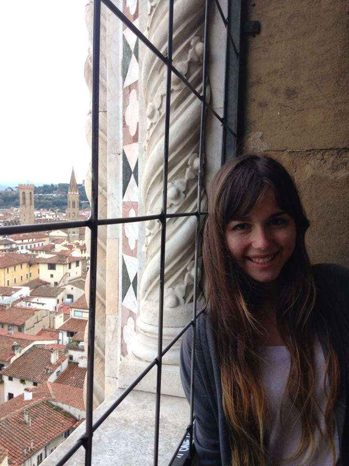 Climbing Giotto's bell tower in Florence, Italy