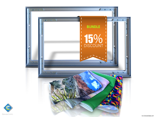 2 canvas frames with 4 custom printed graphics