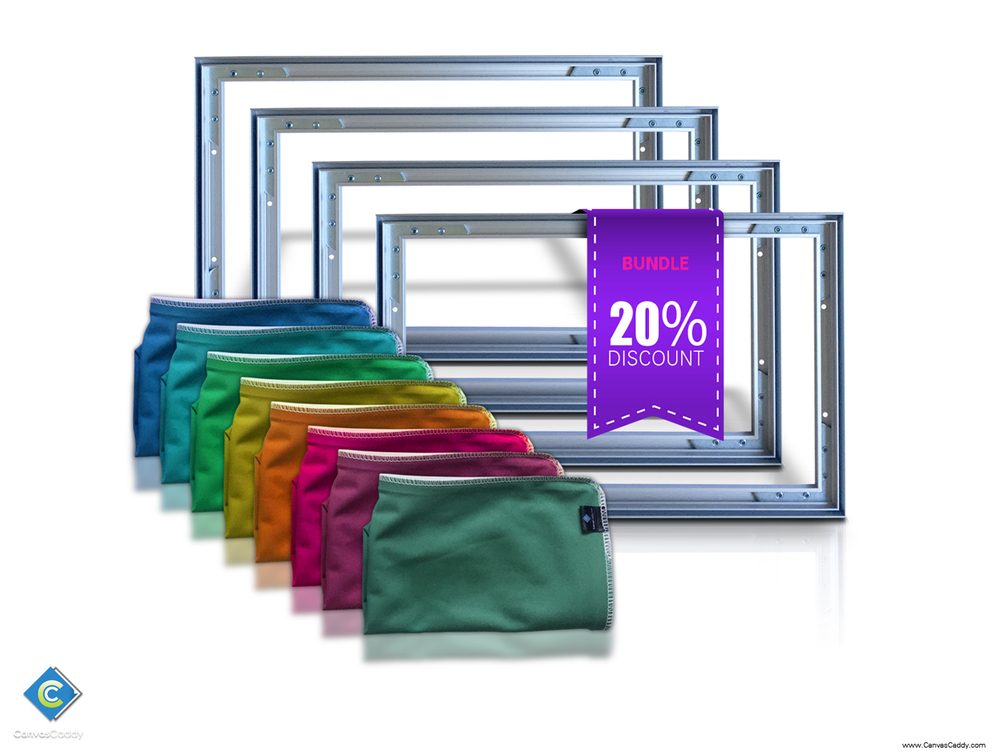 4) Canvas Frames with (8) Custom Printed Graphics — Best Canvas Prints