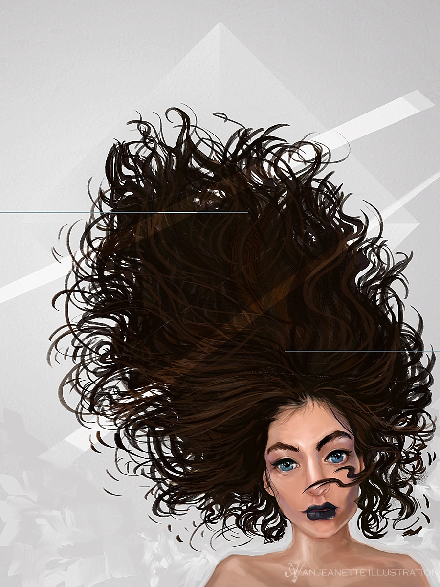 Lorde Digital Painting by Anjeanette Illustration