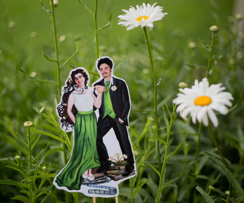 Nashville Wedding Photographer Custom Cake Toppers Anjeanette Illustration Photography
