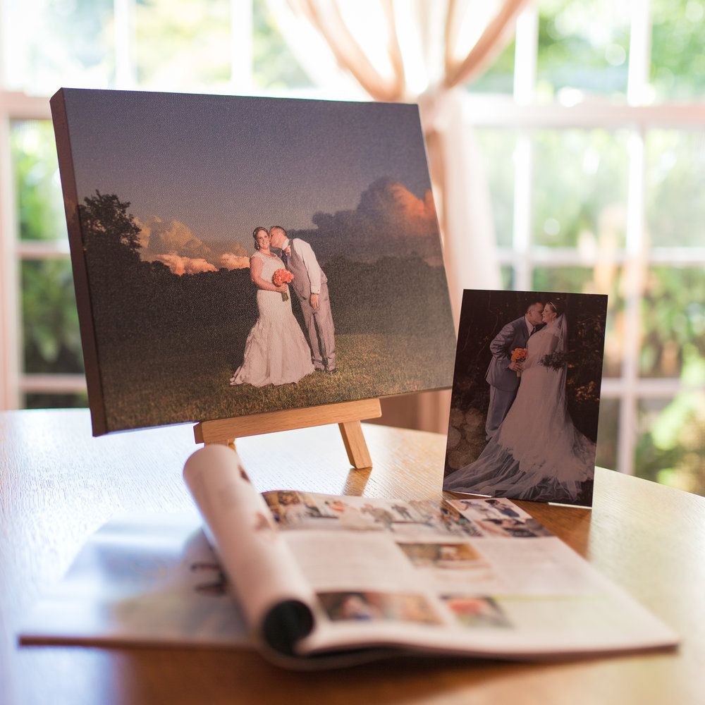 I delivered the beautiful canvas Grace & Matt ordered of their favorite portrait along with a small free metallic stand up print, AND their page feature in local Your Sumner Magazine!