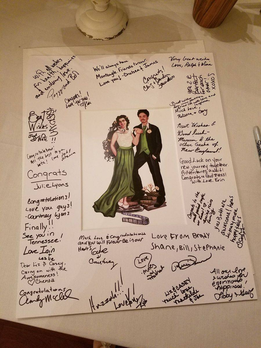 Here is how Liz and Casey incorporated their illustration into their intimate chic NOLA wedding!