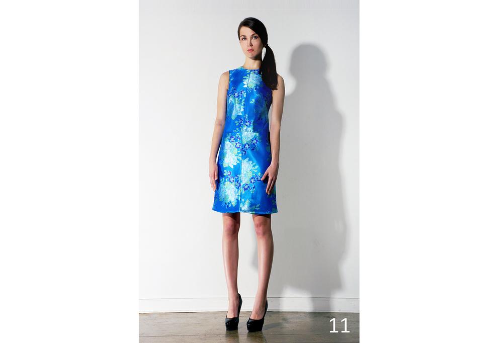 11 Azure blue floral jacquard shift dress_KJ0716DW010.jpg
