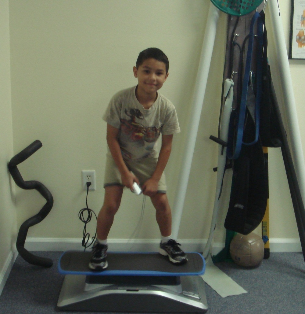 Vibration plate exercise.