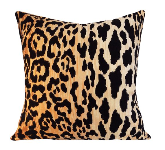 Velvet Leopard Pillow - ETSY