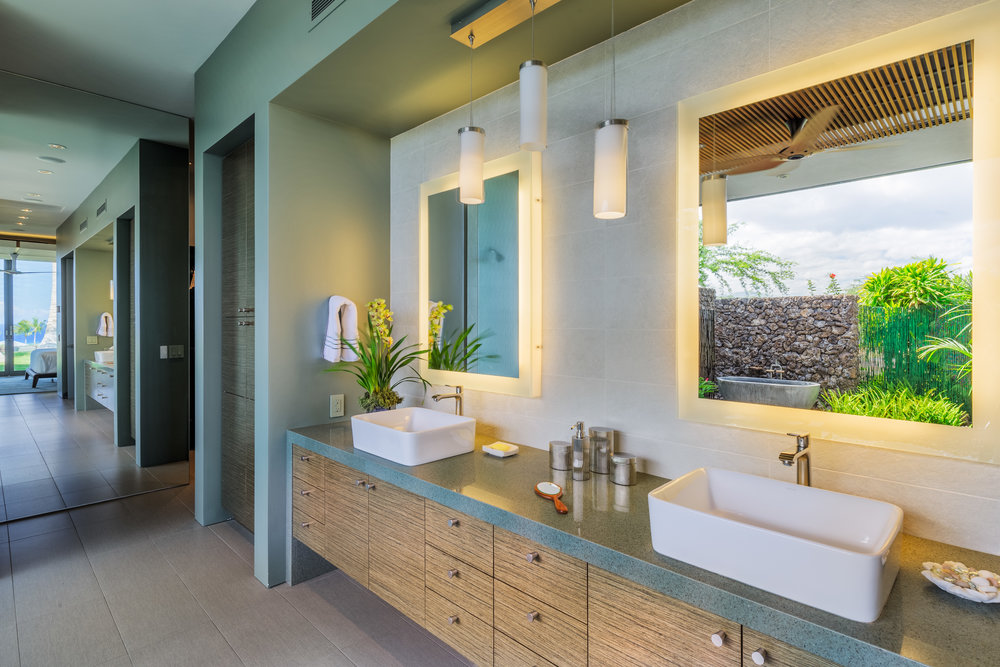 Interior master bath.