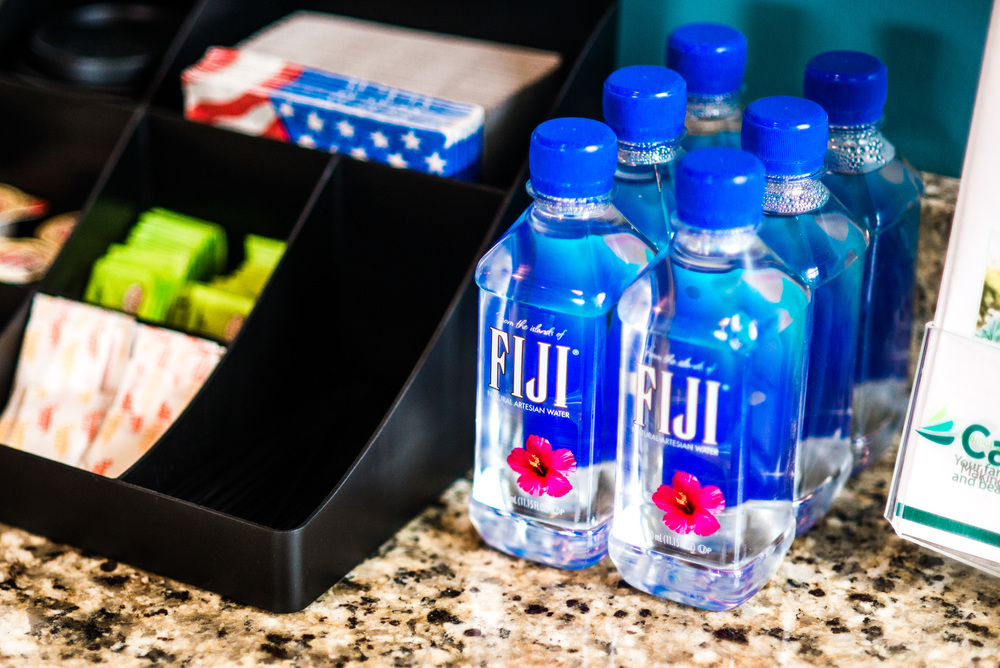 Fiji Water And Tea For Dentist Patients
