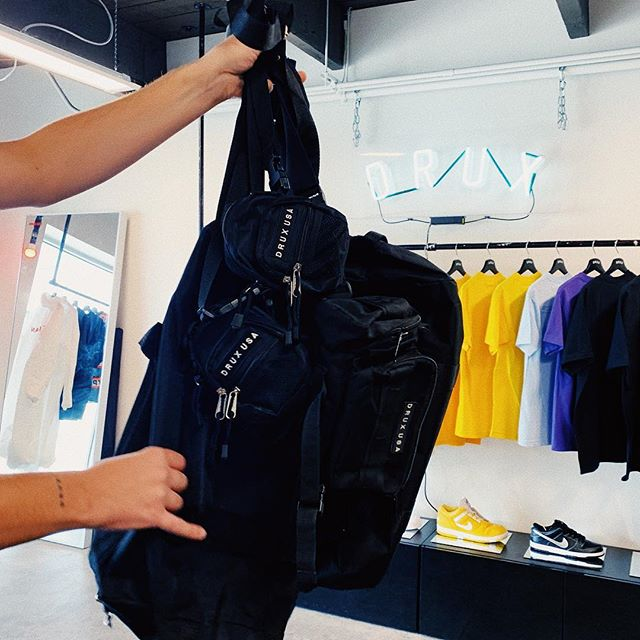 $10 *SAMPLE @druxusa bags out in the shop today :: Here til 4