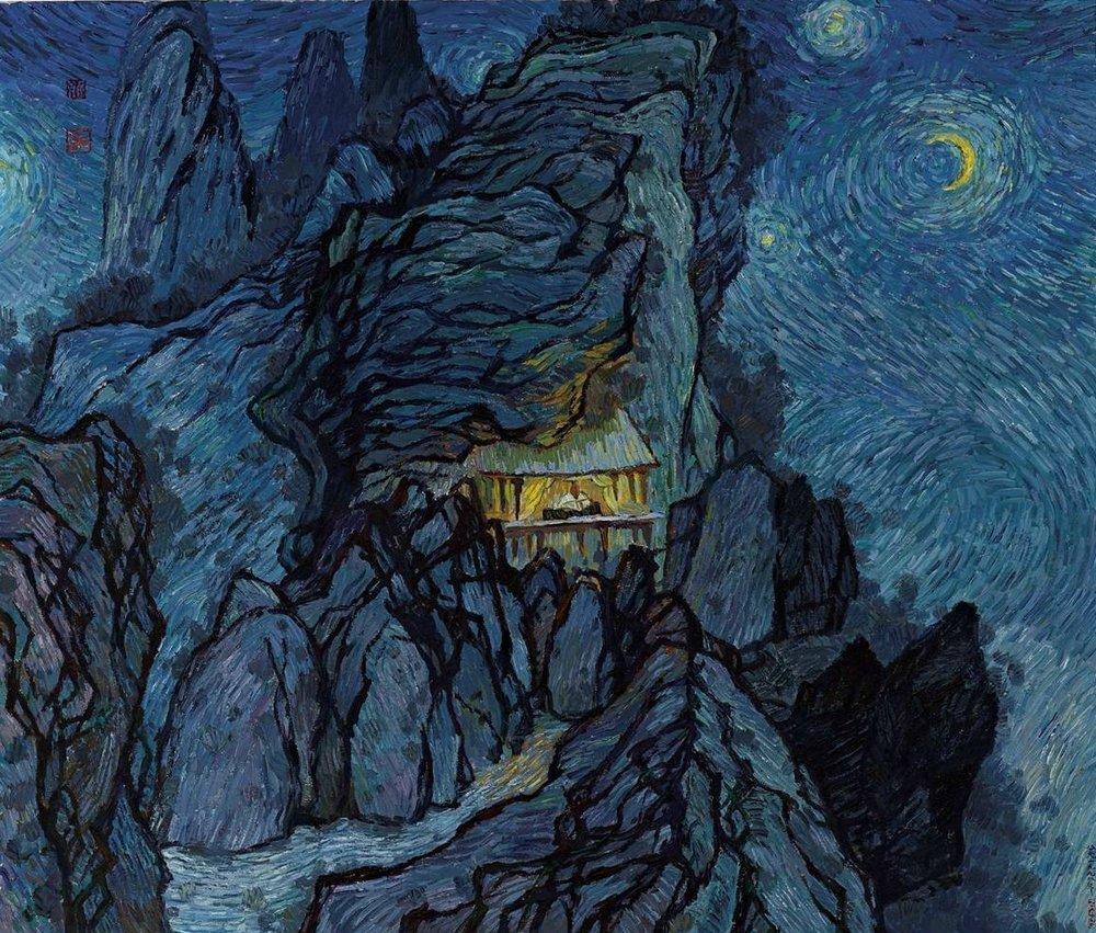 Shitao-Van Gogh, by Zhang Hongtu.jpg