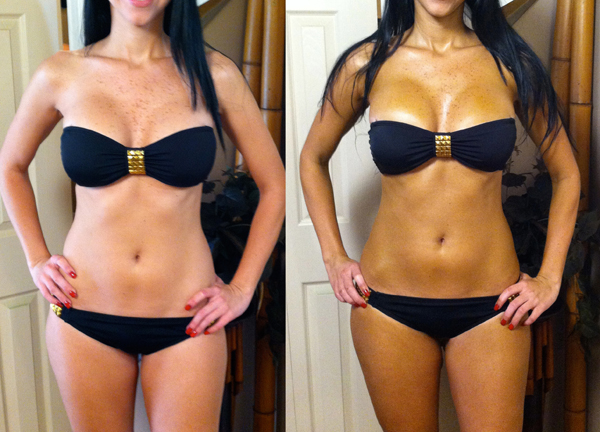 Airbrush Tanning Before & After
