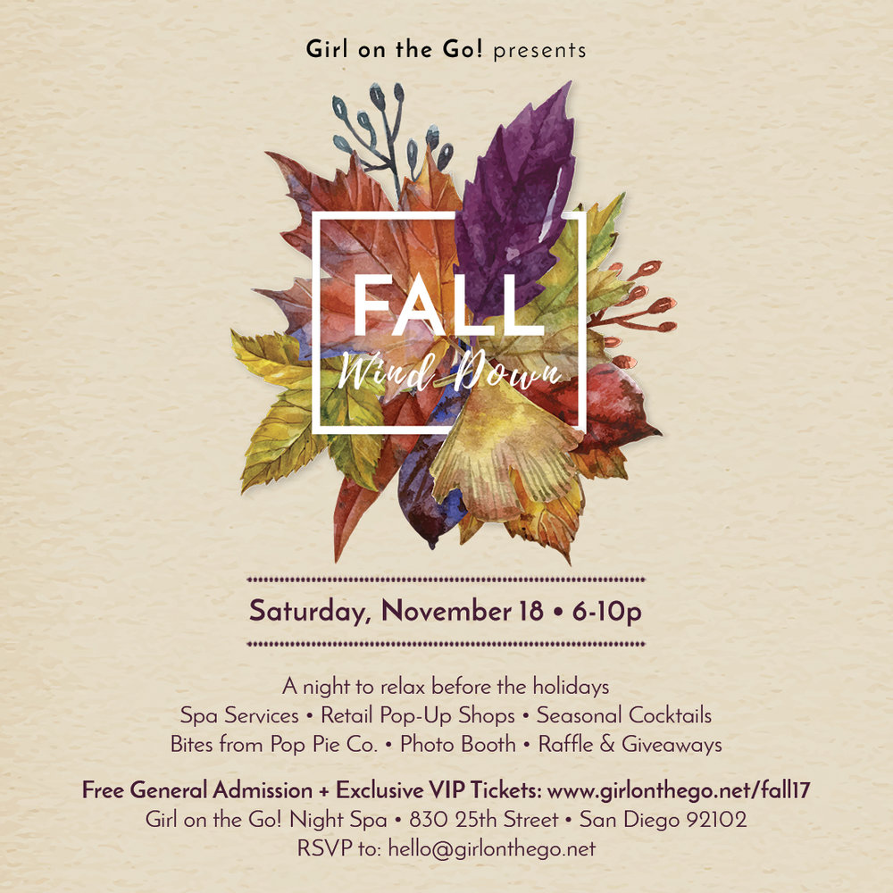 Fall Wind Down Event