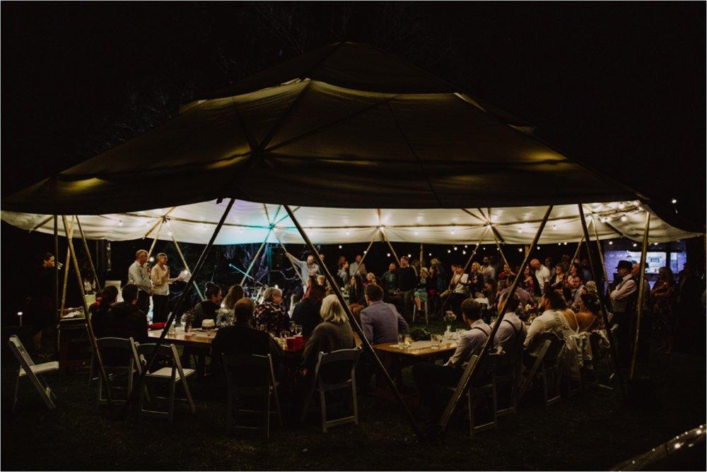 Yurt wedding reception tent