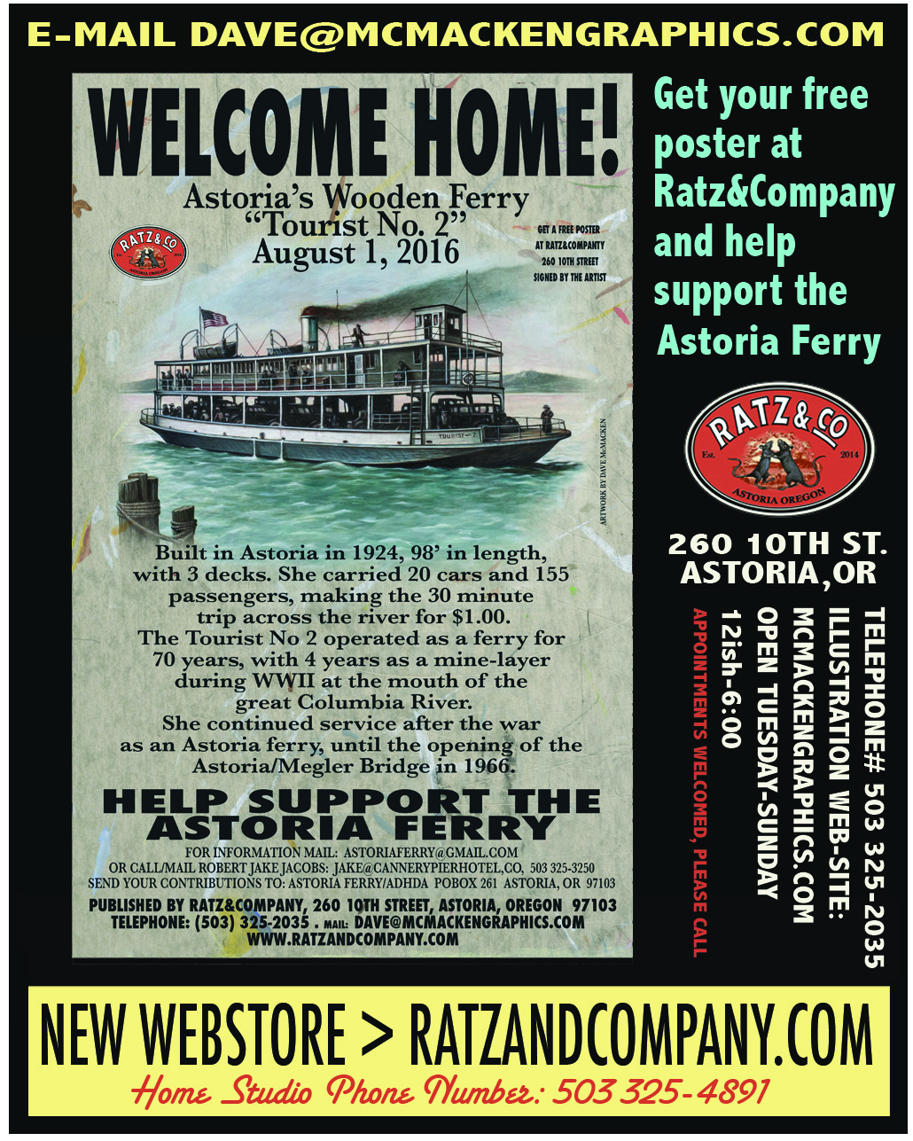 Help Support The Astoria Ferry: