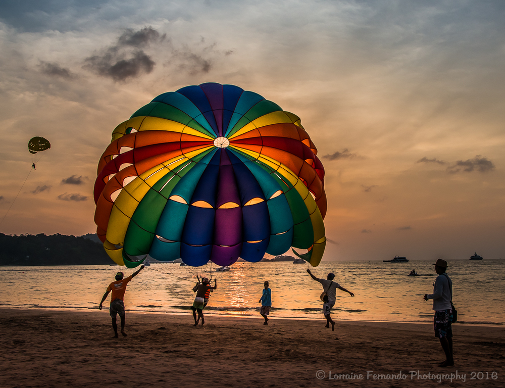 Sunset Parasailing on Patong Beach