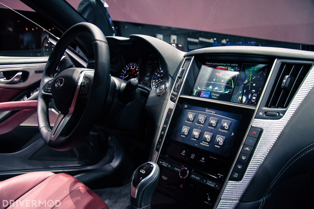 "If you look really closely - there's a ""MOD"" button on the touch screen.  It's offical, the Infiniti Q60 is the first car to modify itself"