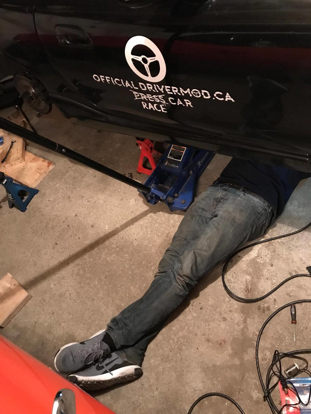 The only picture taken that night - fixing the speed sensor.
