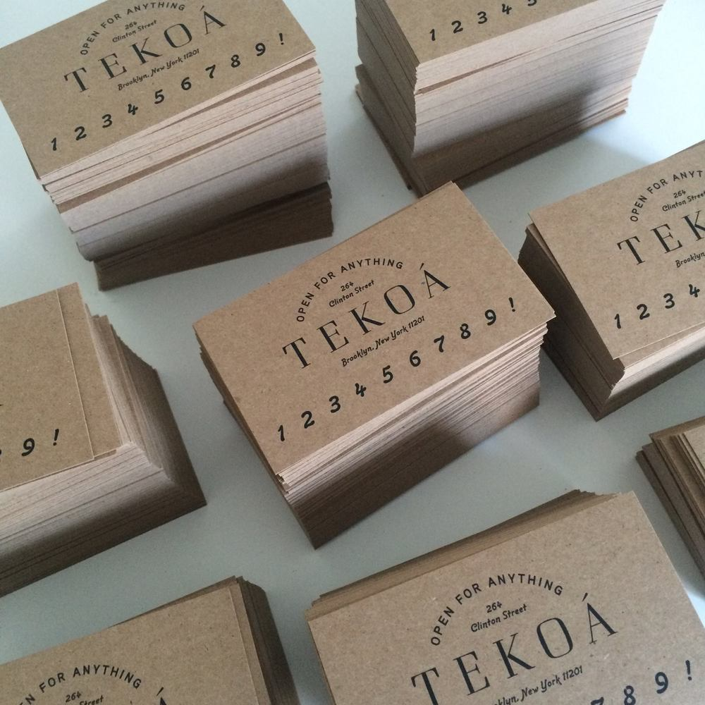TEKOÁ's Promotional Business Card