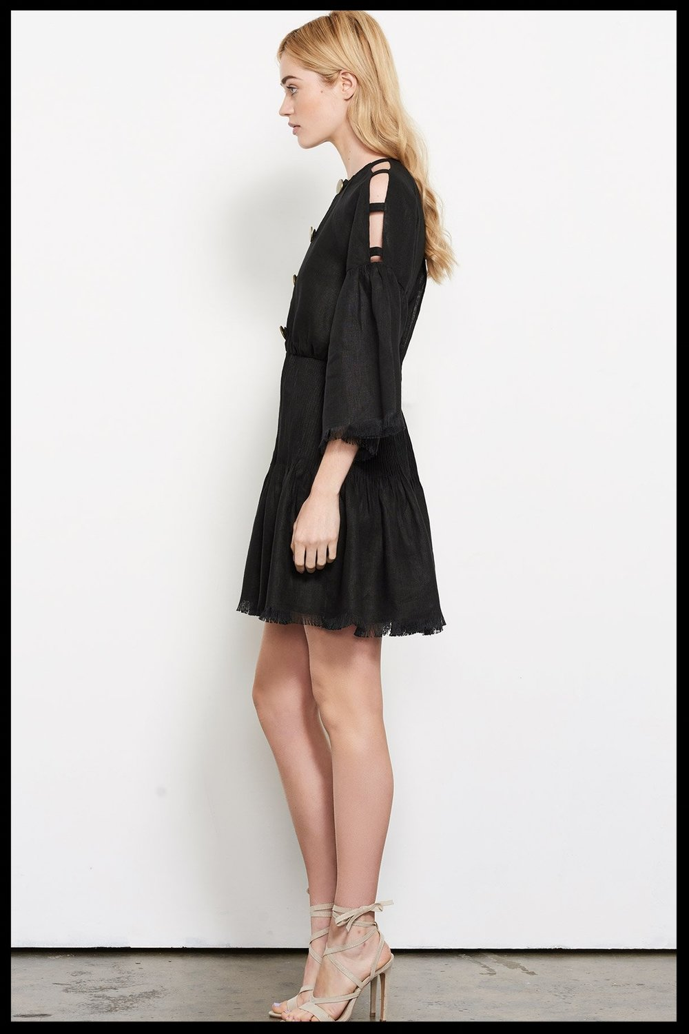 be0d0914bf Stevie May Castello Linen Mini Dress - Black
