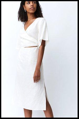 37e8cfe20c1 Third Form Senro Linen Wrap Dress - Straw Stripe ...