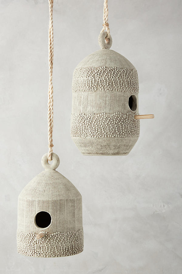 anthropologie lace siding bird house